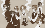 Jekyll and Hyde in sepia by AgentDax