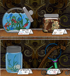 A Shelf In The Item Shoppe - Fishing and Eating!! by DRACODOPTABLES