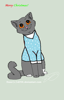 Rainfrost in a Christmas Sweater by Fernkit6666