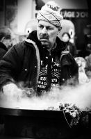 Street cook by OlivierLD