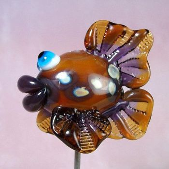 I love fish Hollow Lampwork by GlasstasticTreasures