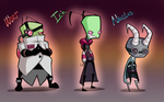 Wort, Ick, and Nahilus Designs by TheCau