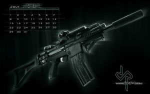 RAP4 July 2012 Calendar by RealActionPaintball