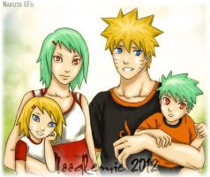 Naruto and Fu Family by CRed1988