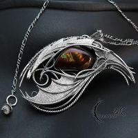 FHARN DRACO - Silver and Fire Agate by LUNARIEEN