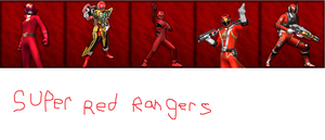 Super Red Rangers by goldranger91