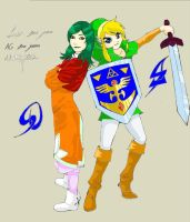 Farah and Link by Nafady