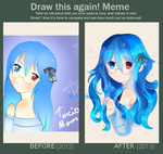 .::Mari - Before and after::. by OujiSummer