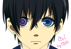 Ciel without the eye patch - COREL by TiFFhAnY