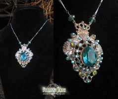 Mermaid Gem Necklace by Lillyxandra
