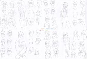 Frics Characters All Uncolored by Cliffto