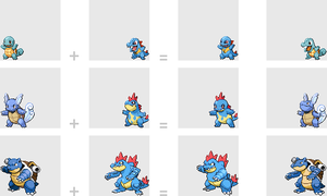 Water Starter Fusions by mondecolore