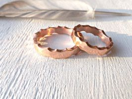 forged copper rings by Siihraya
