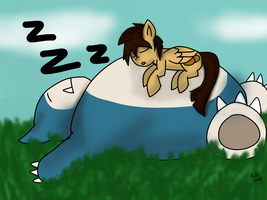 Potato Flank and snorlax by FadedBloodStain