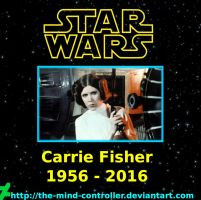 Carrie Fisher Remembered by The-Mind-Controller