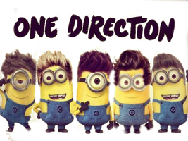 One Direction Minions PNG by agusloveeee