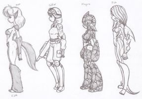 Different Creatures Sketches by X-Cross