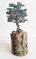 Wire tree sculpture with metal roots by minskis
