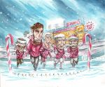 Washington Nationals Holiday card Illustration by dfbovey