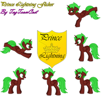 Prince Lightning Flicker's Character Sheet 4 by TagTeamCast