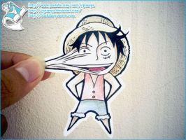 Paper Luffy by icpuaupa