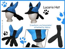 Lucario Hat by Gijinkacosplay
