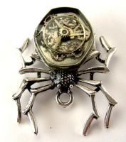 Mercedes Steampunk Spider Pendant by SteamSect