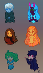Ava's Demon Cast (chibis) by BaileyNickerson