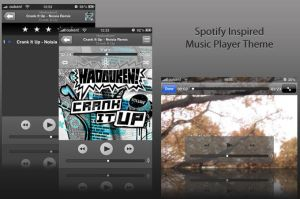 Spotify Inspired Music Player by sam-hunt