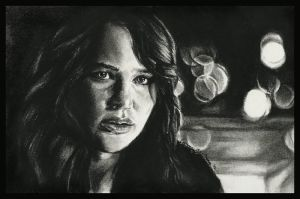 Katniss Everdeen by thewholehorizon