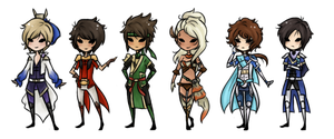 Dynasty Warriors 8 Chibis by Ria-and-Ree