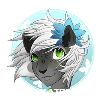 Yukatrina Badge -AT- by FREAKKATT