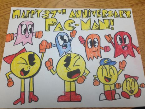 Happy 37th Anniversary, Pac-Man by SuperStarfy2002