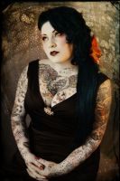 Antique Circus: Tattooed Lady by NightshadeBeauty