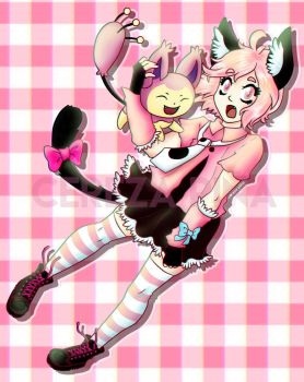Art Trade - really pink!! by CerezaPina