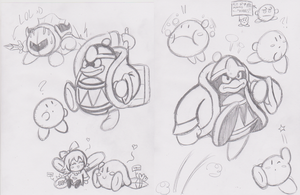 Cool Kirby Sketches by JamesmanTheRegenold