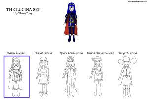 The Lucina Set [#1: Classic Lucina] by ThanyTony