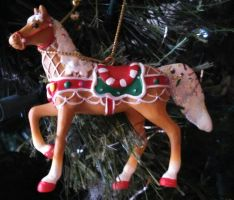 Sweet treat round up painted ponies Christmas orna by Devilgirl007