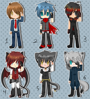 Male adoptables -OPEN!- by Anini-Chu