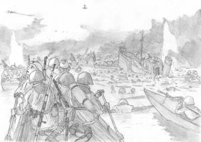 The 13th crosses the Volga, Stalingrad, 14/9/1942 by FritzVicari