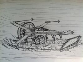 X-Wing Swamp Tour Boat concept sketch by TheRavensBastard39