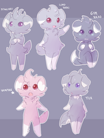 Espurr Variations by RabbitBatThing