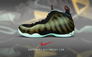 Nike Air Foamposite One 'Kings Pride' by BBoyKai91