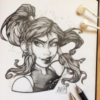 Korra - Sketch by TheLittleArtyThing