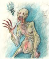 The Pale Man by Pink-Myotis