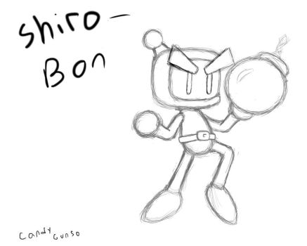 Bomberman sketch by CandyGunso