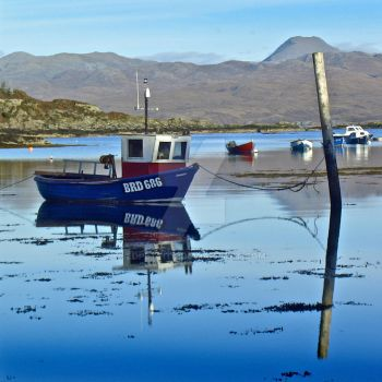 Fishing Boat Reflected by EdPettitt