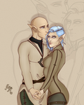Commission: Arabella and Solas by MischiArt