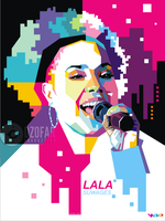 LALA SUWAGES POP ART by ndop
