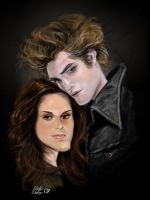 EDWARD_BELLA_CARICATURE by CrisDelaraArt